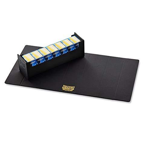 Dragon Shield Magic Carpet 500+ Black & Black Durable Magnetic Leather Deck Box Storage Case Protector