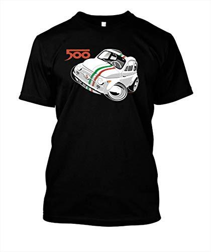 Fiat 500D caricature white 11 - T-Shirt Hoodie Unisex Tank Crewneck Sweatshirt