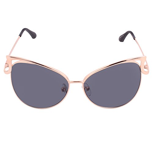 cbcf1edc92f3e Forepin® Gafas de Sol Mujer Polarizadas Ojos de Gato Protección UV400  Montura de Metal Marco