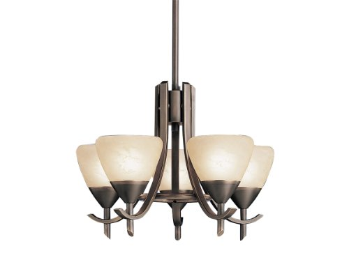 Kichler 1678OZ 5-Light Olympia Incandescent Chandelette, Old Bronze Review