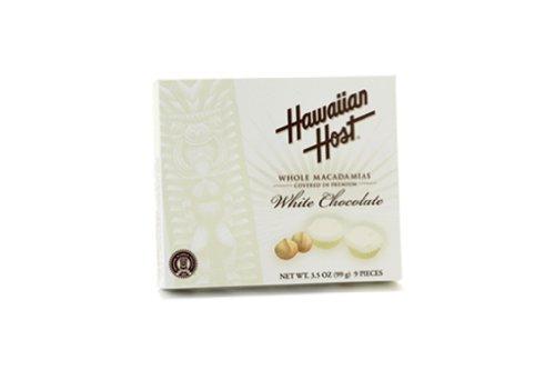 Hawaiian Host Macadamia Nuts White Chocolate 3.5 oz. Gift Box by Hawaiian Host