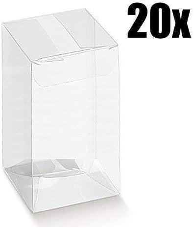 20 Piezas Caja PVC Transparente 12X12X19 cm Titular de la Almendra de Caja Del Favor De: Amazon.es: Hogar