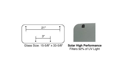 17 X 35 Sunroof (CRL/SFC 17 x 35 AutoPort Sunroof High Performance Solar Replacement Glass)