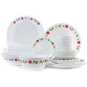 Corelle Livingware Series Spring Pink Pack of 30 Pc Dinner Set  sc 1 st  Amazon.in : corelle 30 piece dinnerware set - pezcame.com