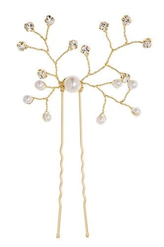 L. Erickson Small Eden Hair Pin - (Gold Fancy Pearl)
