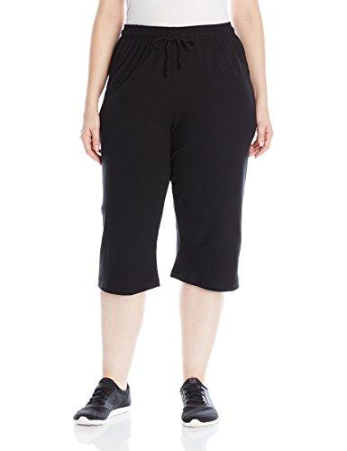 - Champion Women's Plus-Size Jersey Capri, Black, 2X