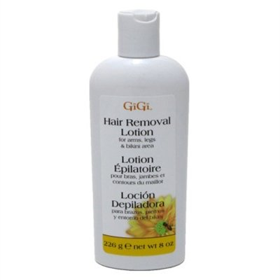 Gigi Hair Removal Lotion 8oz. Arms/Legs/Bikini (3 Pack) (Best Hair Removal Lotion)