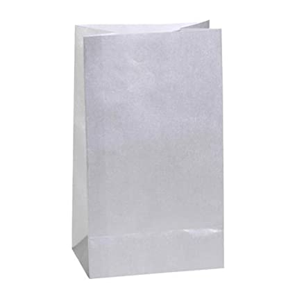 amazon com package of 24 small silver paper gift or favor bags