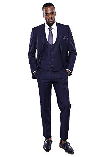 WESSI 남성에 맞는 스키니 3 조각 평 검 2 버튼 슬림에 맞는 적합한 남자 두 개의 버튼이 공식적인 재킷 조끼 바지 세트