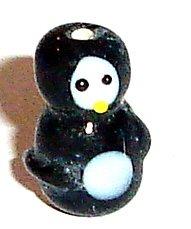 Penguin Glass Lampwork Beads 5pcs 20mmx14mm