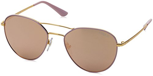 Ray-Ban Women's Metal Woman Non-Polarized Iridium Aviator Sunglasses, Gold/Pink, 54 - Ban Ray Female Aviator