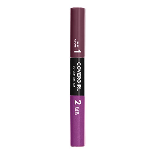 (COVERGIRL Outlast All-Day Color & Lip Gloss, Vivid Violet, 0.2 Ounce (packaging may vary))