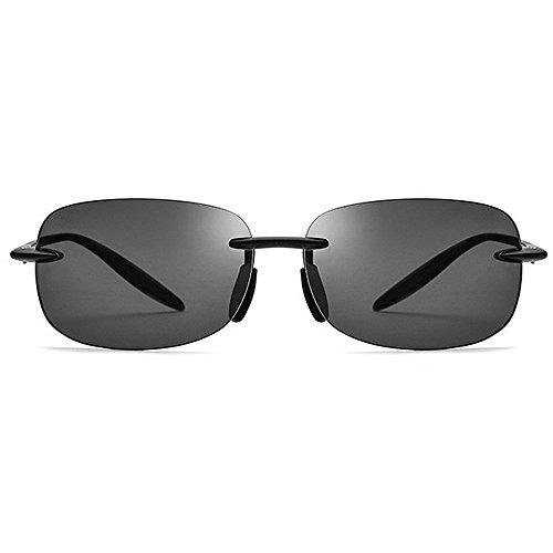 los compl Cuadrada Marco Gafas diseñador para Sol Forma Ultravioleta TR90 de Conducir KOMEISHO de béisbol de el Sol Tonos protección de Que la Gafas Novedad Funcionamiento Hombres sin del Negro de la Az56nqtxnP