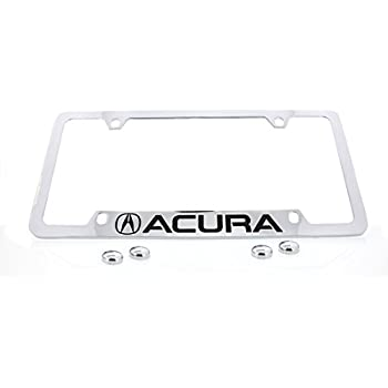 Amazoncom Acura Logo Bottom Engraved Chrome Plated Coated - Acura license plate