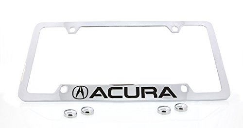 Acura (2013) logo Bottom Engraved Chrome Plated Coated Metal License Plate Frame Holder
