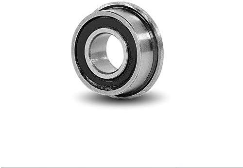 10 PCS MF128-2RS Flange Rubber Sealed Ball Bearing BLACK MF128RS 8x12x3.5 mm