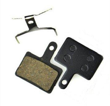 Kevlar Copper Long Life Juscycling Resin Organic Semi-metal Brake Pads for Shimano Deore BR-M575 M525 M515 M375 M395 M415 M416 M446 M465 M475 M485 M486 Smooth Braking,Low Noise