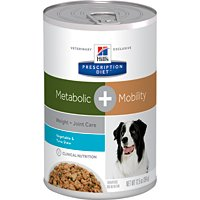 Cheap Hill's Prescription Diet Metabolic Weight + Mobility Vegetable & Tuna Stew Canned Dog Food 12/12.5 oz
