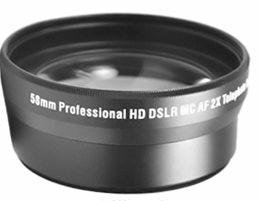 Professional Lens Accessory Kit includes 58MM 2X High Definition Telephoto + Lens Tube Adapter + Digi 5 Piece Pro Cleaning Kit for CANON POWERSHOT G10