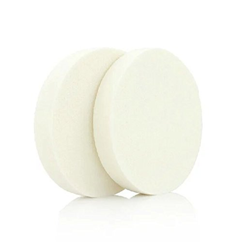 Brendacosmetic New Round white Delicate Soft Cotton Sponge Puff for Cleansing,Wet or Dry cosmetic makeup tool powder Puff for makeup