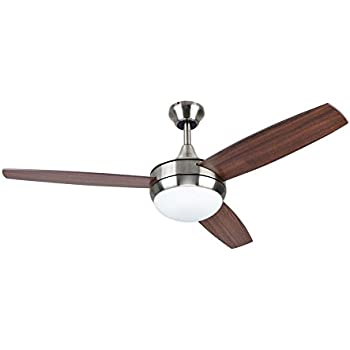 Beach Creek 44 In Brushed Nickel Downrod Or Close Mount Indoor Residential Ceiling Fan With Led