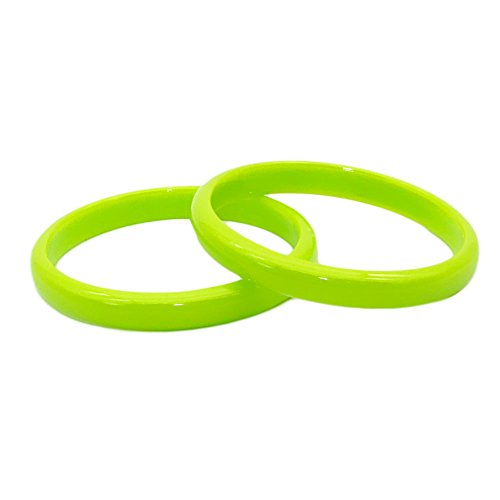 G-JSEA 2pcs 10mm Acrylic Candy Color Bracelets Bangle Set Red Blue White Pink Bracelet