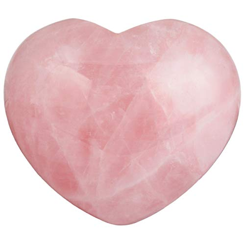 (mookaitedecor Healing Crystals Heart Love Worry Palm Stone Reiki Balancing 1.6 inches,Rose)
