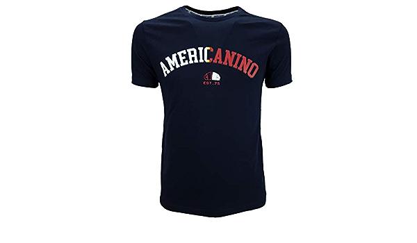 Americanino Camiseta de hombre de algodón de manga corta ...
