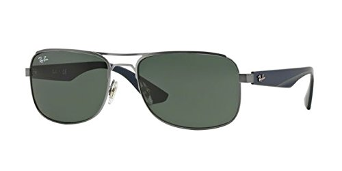 Ray-Ban Sunglasses RB3524 029/71 Matte Gunmetal Green 57 17 140 mm by Ray-Ban