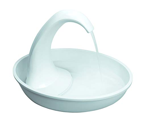 Pioneer Pet Swan Pet Drinking Fountain: 80oz Water Capacity (For Fountains Pet Ceramic Cats)