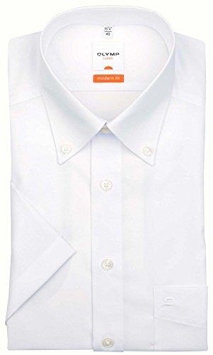 Olymp Luxor kurzarm Hemd Modern Fit - weiss, Kragenweite:46