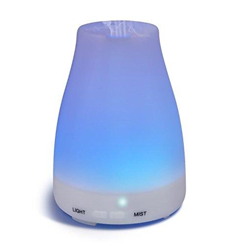 Difusor De Aceites Esenciales Para Aromaterapia - Con Luz LED - Humidificador Ultrasnico