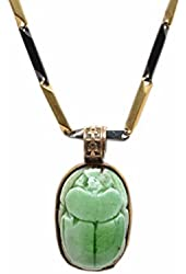 Egyptian Stone Scarab with Chain