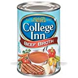 College Inn Beef Broth - 48 oz. can, 12 per case