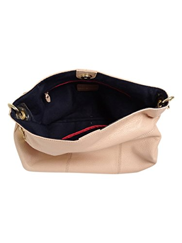Leather Tommy Th Signature Hilfiger Small Nude Hobo r1S1t