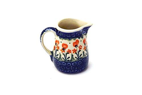 Polish Pottery Miniature Pitcher - Peach Spring (Miniature Pottery Pitcher)