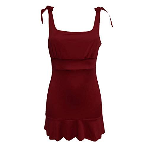 Da Con Cerimonia Odjoy Abiti Alta Vestito Donne Colletto Swing Maniche A Vita Donna Aderente Gonna Rosso Senza fan Sexy Mini Abito N8n0wOymv