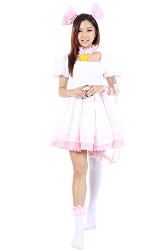 [De-Cos Cardcaptor Cosplay Sakura Kinomoto Sakura Pink Dress 3rd Ver Set] (Third Leg Costume)