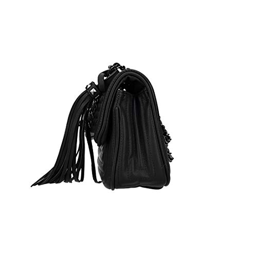 Vn2876 Bag Black L Shoulder Woman Opening Flap With Metal Biagiotti zx4wgO