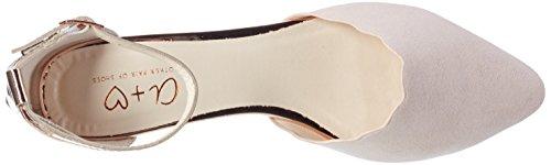 Another Pair of Shoes BlairE1, Damen Knöchelriemchen Ballerinas, Pink (Dusty Pink/Rosegold1994), 39 EU (6 Damen UK)