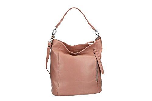 Bolsa mujer hombro shopper PIERRE CARDIN rosa cuero MADE IN ITALY VN2570