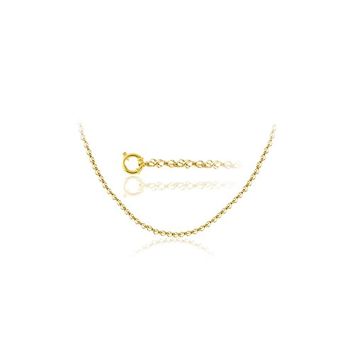 Studs Galore Singapore Chain in 18K Yellow Gold -18 inches