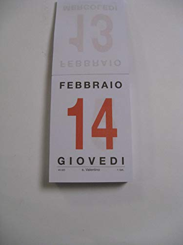 Calendario A Strappo.Calendario A Strappo Blocco Da Muro 2019 F To 10 5 X 15 Cm Mezzo Ministeriale Art Bm214