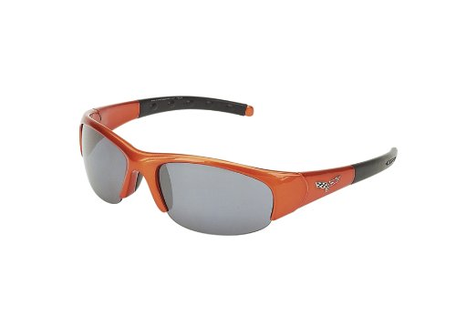 CORVETTE EYEWEAR's C6 logo series atomic orange frame with 2 sets of polycarbonate - Jrs Sunglasses