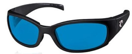 Costa Del Mar Hammerhead Sunglasses, Shiny Black/Blue Mirror - Mar Del Hammerhead Costa