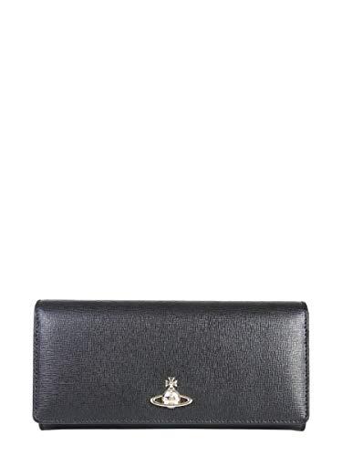 Vivienne Westwood Women's 5104002740565N401 Black Leather Wallet