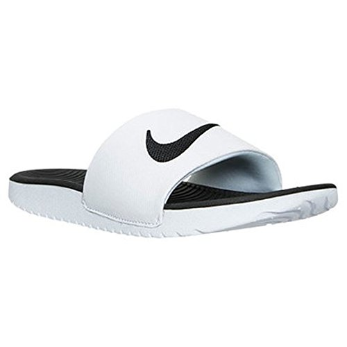 Nike Mens Kawa Slide Athletic Sandal Vit / Svart