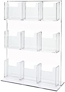 Counter or Desk Book Shelf Clear Acrylic