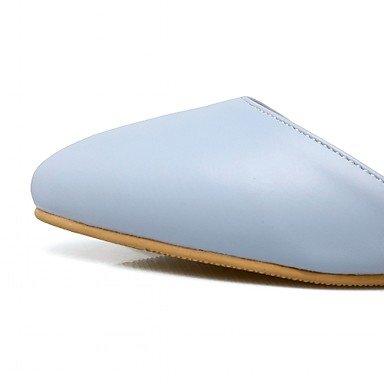 Cómodo y elegante soporte de zapatos de las mujeres pisos primavera verano otoño invierno comodidad diseño PU Sintético Piel Sintética boda oficina y carrera fiesta y noche blanco