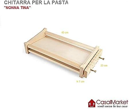 CASALMARKET Chitarra per la Pasta Made in Italy Artigianale 43,5 x 23 x h 7,5 cm
